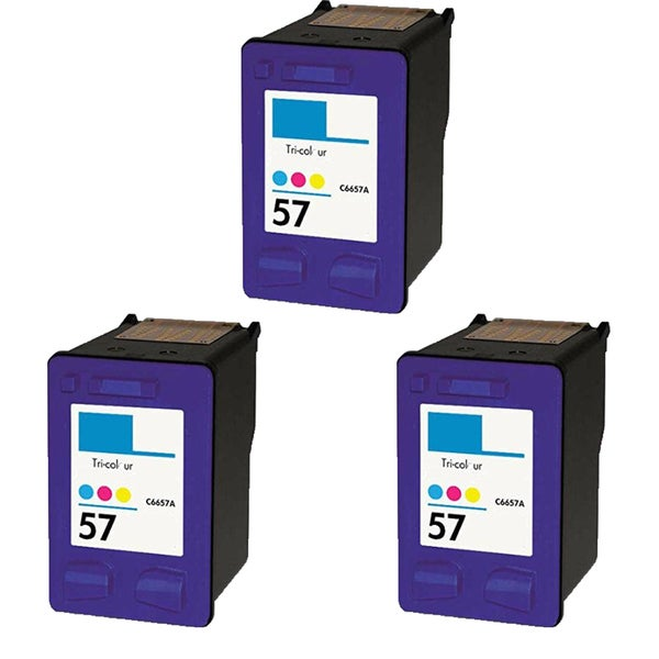HP C6657 (HP 57) Compatible Inkjet Cartridge For 4110 5510 6100 6110 (Pack of 3)