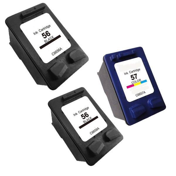HP C6657 (HP 57) HP C6656 (HP 56) Compatible Inkjet Cartridge For 3550 4110 (Pack of 3)