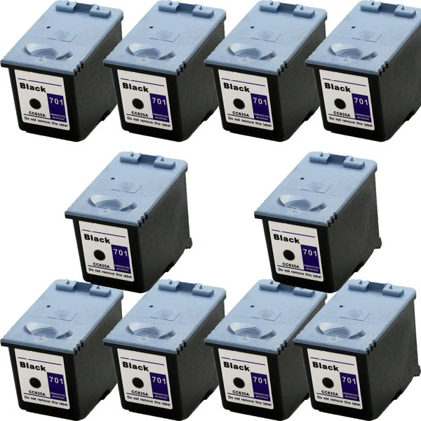 CC635A (HP 701) Black Compatible Inkjet Cartridge For 640 2140 (Pack of 10)
