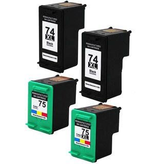 HP74XL - Black HP75XL - Color Compatible Inkjet Cartridge For Deskjet D4200 Officejet J5700 Photosmart C4200 (Pack of 4)