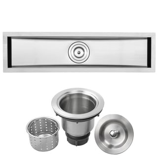 Ticor 31.5-inch Stainless Steel 16-gauge Undermount Trough Kitchen Sink
