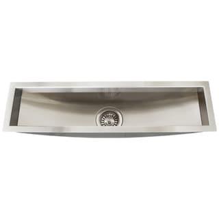 Ticor 31.5-inch Stainless Steel 16-gauge Undermount Trough Kitchen Sink