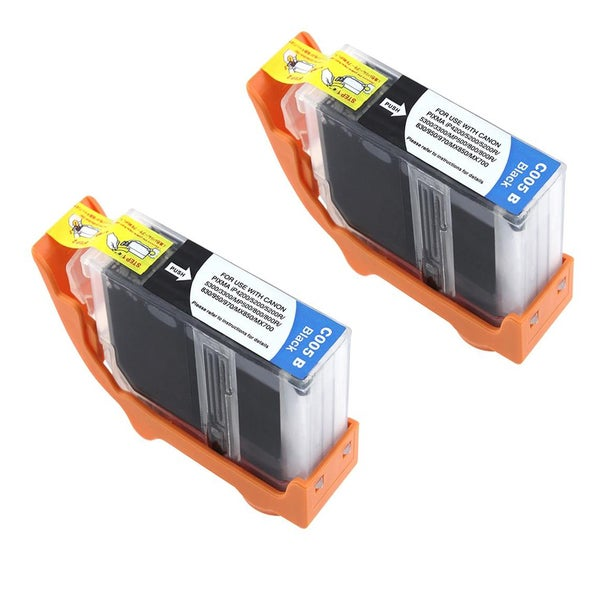 Canon CAN-PGI-5BK Compatible Inkjet Cartridge PIXMA IP4200 5200 MP500 MP800 (Pack of 2)