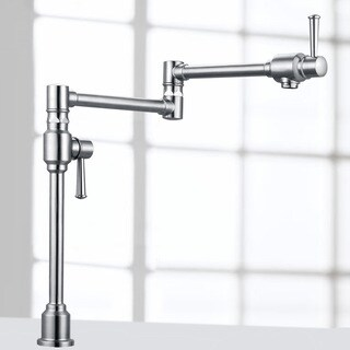 Geyser Stainless Steel Deck Mount Pot Filler Kitchen Faucet with Dual Handles