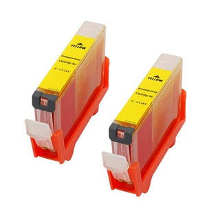 Canon CAN-CLI-8Y Compatible Inkjet Cartridge PIXMA IP4200 5200 6600D 6700D MP500 MP800 (Pack of 2)