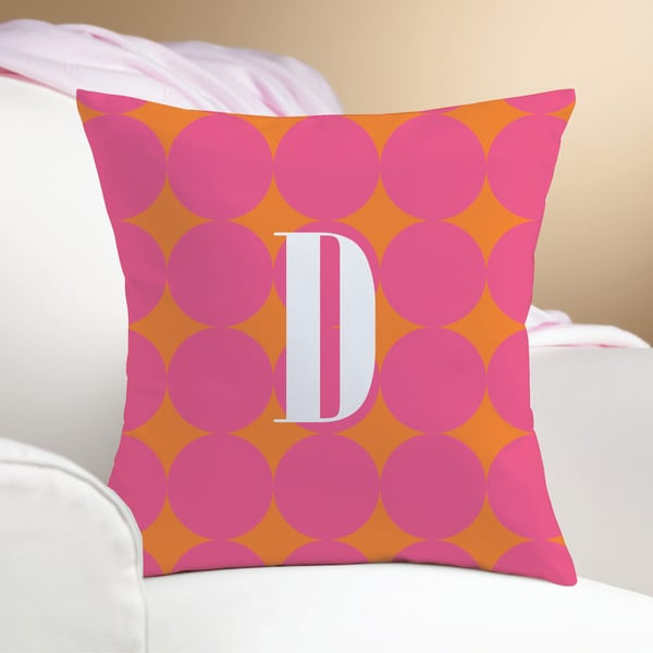 Pink Polka-dots Personalized Pillow