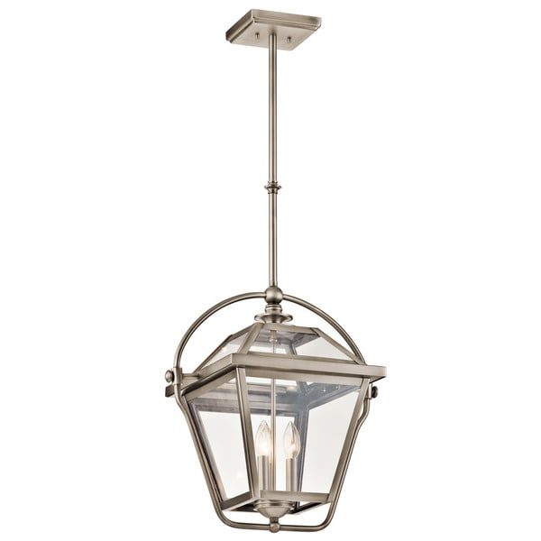 kichler lighting ryegate collection 3 light antique pewter