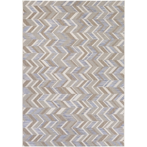 Couristan Tides Shelter Island/ Blue-Grey Rug (8' x 10')