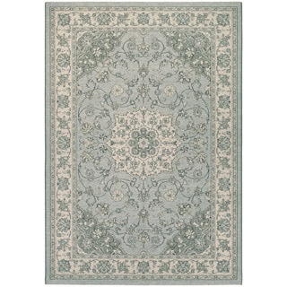Couristan Traditions Namur/ lt Blue/ Ivory Rug (8' x 11')