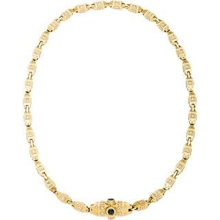 18k Yellow Gold 10ct TDW Diamond Heavy Gold Chain Estate Necklace (H-I, VS1-VS2)