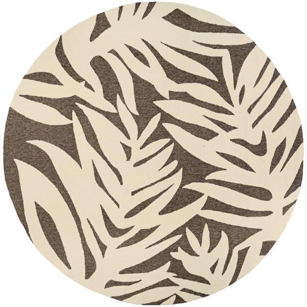 Couristan Covington Palms/ Slate Rug (8')