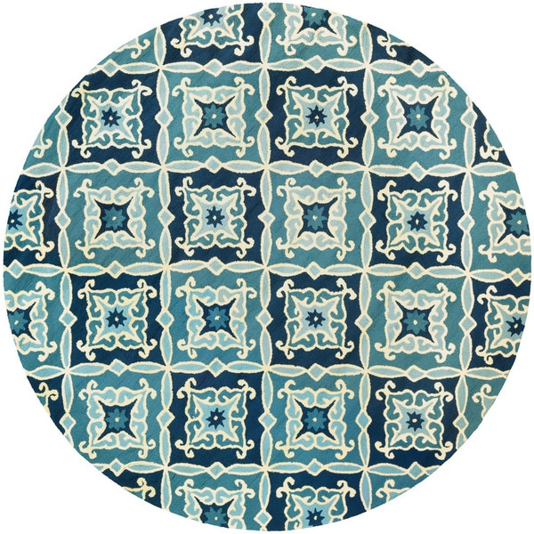 Couristan Beachfront Sea Glass/ Cobalt-Azure Rug (8')