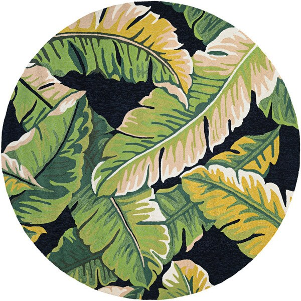 Couristan Covington Rainforest/ Forest Green-black Rug (8')