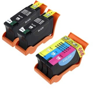 Dell 2 T105N Black 1 T106N Color (Series 23) Compatible Inkjet Cartridge For Dell V515W (Pack of 3)