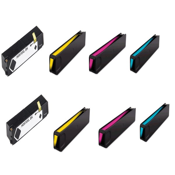HP 970XL 971XL Black Cyan Magenta Yellow Ink Cartridge HP OfficeJet Pro X451dn (Pack of 8)