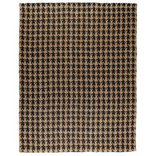 Kosas Home Lad Black Houndstooth Jute Area Rug (9' x 12')