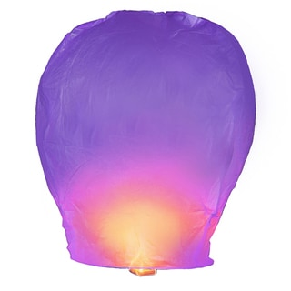 Purple Sky Lanterns (4 Count)
