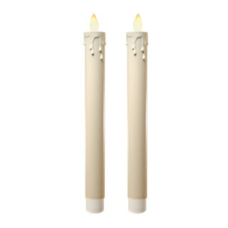 Action Flame LED Taper Candles (Set of 2)