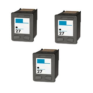 HP C8727A (HP 27) Black Compatible Inkjet Cartridge For 3320 3322 3420 (Pack of 3)