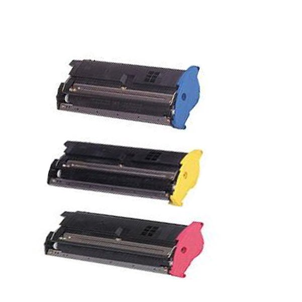 QMS 2200 Cyan Magenta Yellow Compatible Toner Cartridge For 2200DL 2200W 2250EN (Pack of 3)