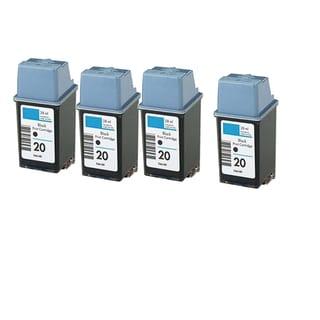 HP C6614 (HP 20) Black Compatible Inkjet Cartridge For P100U P2200 P2300U P2500 P2600 (Pack of 4)