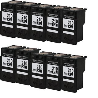 PG-210XL Compatible Inkjet Cartridge For MP250Canon Pixma MP270Canon Pixma MP495Canon Pixma MX340Pixma MP240Pixma (Pack of 10)