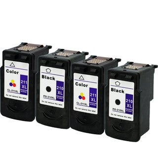 2 X CL-211XL 2 X PG-210XL Compatible Inkjet Cartridge For MP250Canon Pixma MP270Canon Pixma MP495Canon Pixma (Pack of 4)