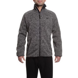 Champion Men's Sweater Knit Bonded to Faux Teddy Sherpa