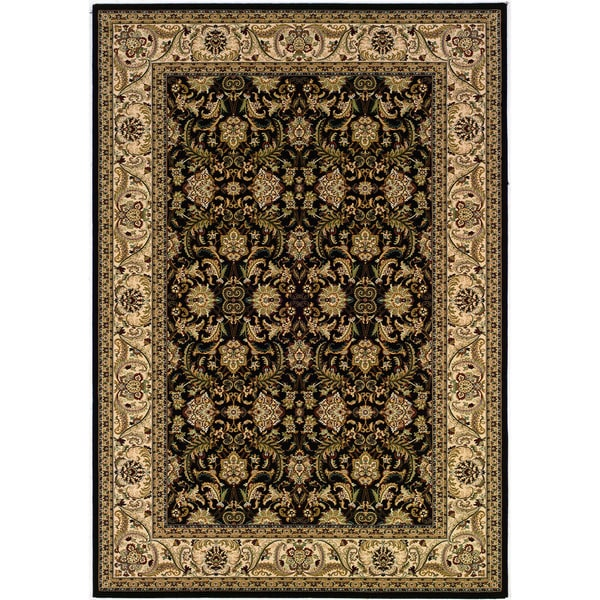 Couristan Himalaya Isfahan/ Ebony-Antique Crme Rug (9'2 x 12'6)
