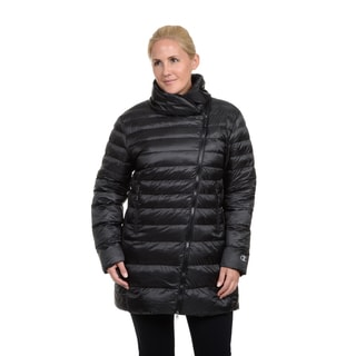 Champion Women's Plus Featherweight Insulated 3/4 Assymetrical Coat