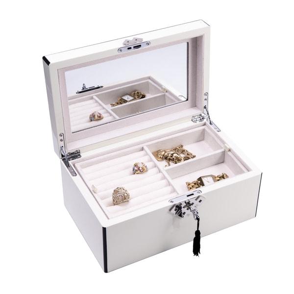 Bey Berk White 3-level Jewelry Box