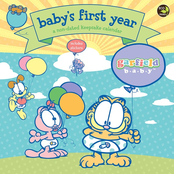 Babys First Year Garfield Non-Dated Wall Calendar