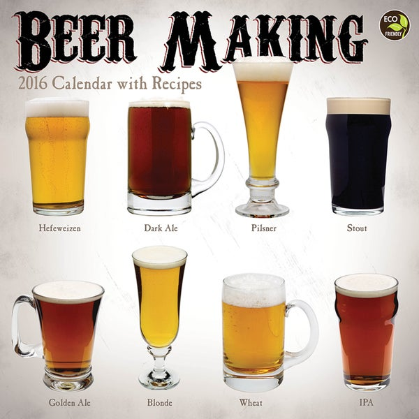 2016 Beer Making Wall Calendar