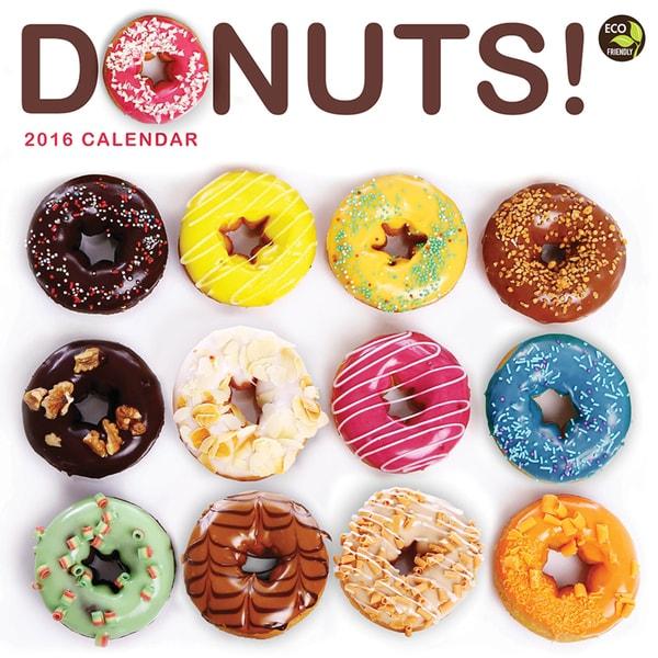 2016 Donuts Wall Calendar