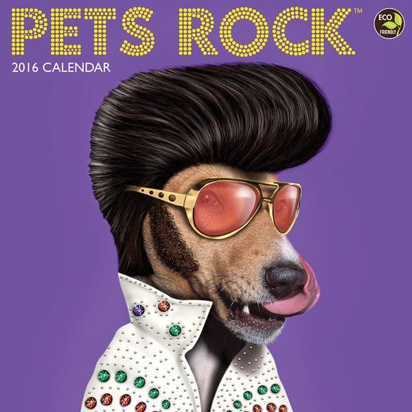 2016 Pets Rock Wall Calendar