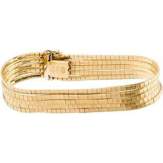 18k Yellow Gold 5-string Estate Spaghetti Bracelet