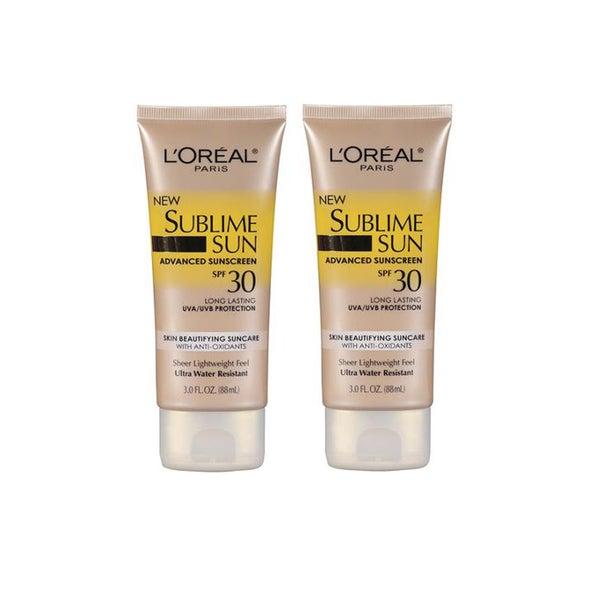 L'Oreal Sublime Sun 3-ounce Advanced Sunscreen SPF 30 (Pack of 2)