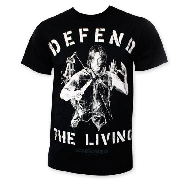 Walking Dead Men's Black Defend The Living Tee Shirt