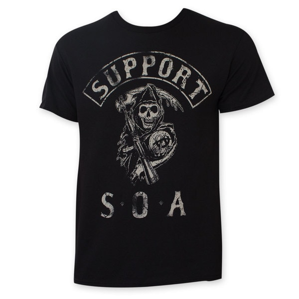 Sons Of Anarchy Support SOA Tee Shirt
