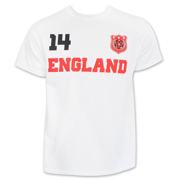 England White World Cup Soccer No. 14 T-Shirt 15990340