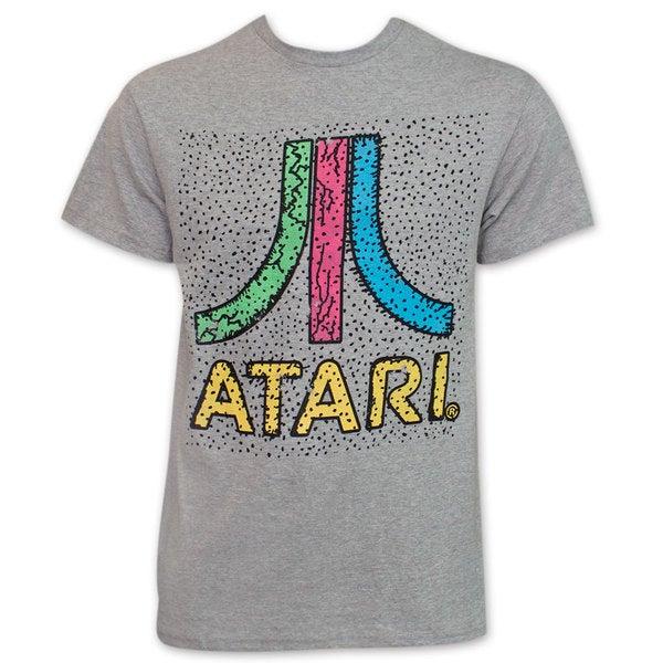 Atari Colorful Logo Tee Shirt by Freeze - Grey