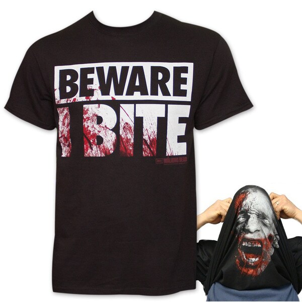 The Walking Dead I Bite Flip-Up Reversible Tee Shirt - Black