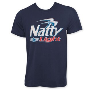 Natty Light Classic Logo Men's Navy Blue Tee Shirt