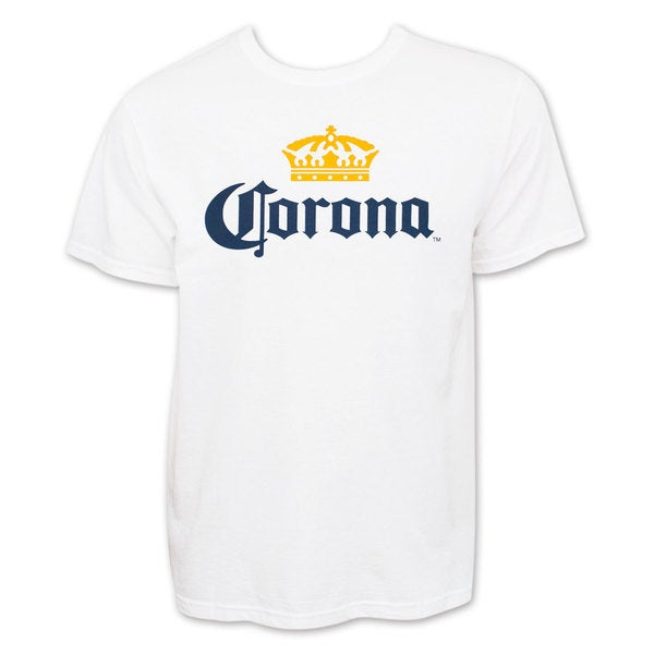 Corona Extra Men's White Beer Logo Tee Shirt