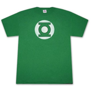 Green Lantern Faded Logo Green Graphic Tee Shirt