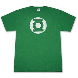 Green Lantern Faded Logo Green Graphic Tee Shirt