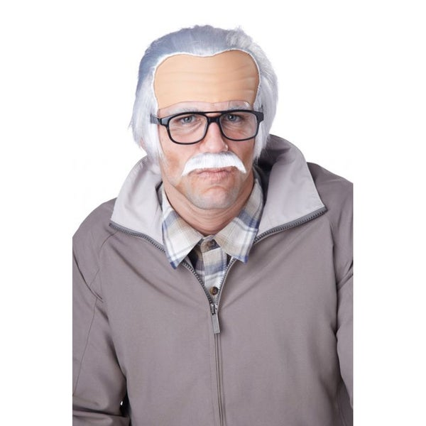 Rude Grandpa Wig and Mustache