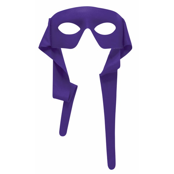 Purple Eye Mask with Ties