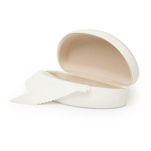 White Sunglasses Case