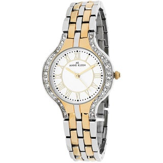 Anne Klein Women's 10-9671SVTT Classsic Round Two-tone Stainless Steel Bracelet Watch
